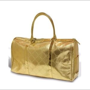 Gold BCBG travel bag